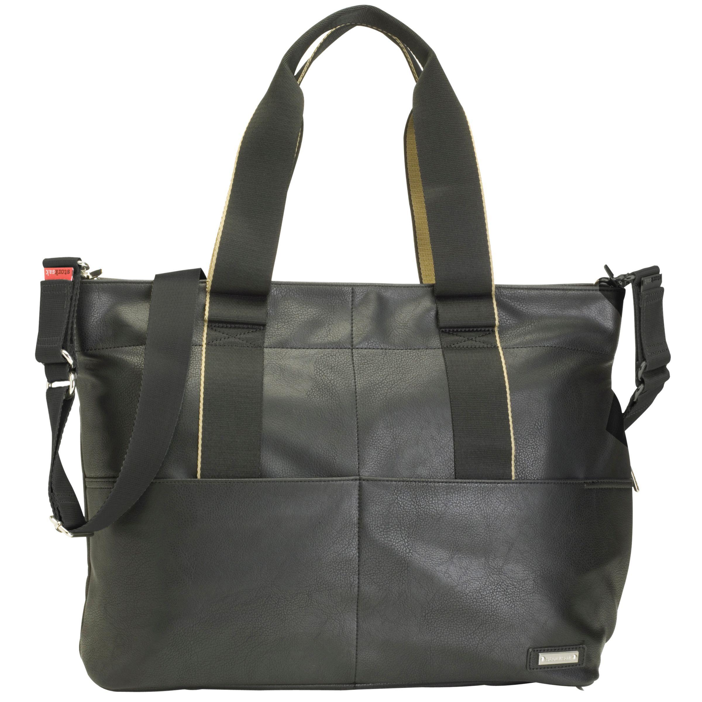 Storksak Storksak Eden Vegan Leather Changing Bag, Black
