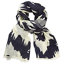 Buy John Lewis Animal Slub Texture Scarf, Black Mix Online at johnlewis.com