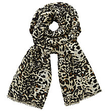 Buy John Lewis Busy Animal Print Scarf, Black/Cream Online at johnlewis.com