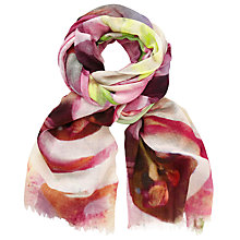 Buy John Lewis Exbury Floral Scarf, Pink Mix Online at johnlewis.com