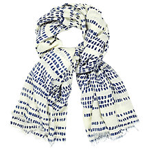 Buy John Lewis Linear Scattered Spot Scarf, Ivory/Navy Online at johnlewis.com