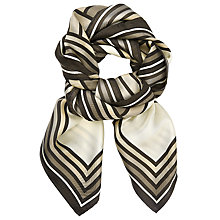 Buy John Lewis Interlock Print Square Silk Scarf, Cream Mix Online at johnlewis.com