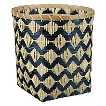 Buy John Lewis Fusion Blue Weave Wastepaper Bin Online at johnlewis.com