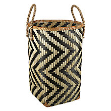 Buy John Lewis Fusion Zig Zag Tall Basket Online at johnlewis.com