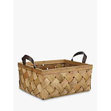Buy John Lewis Fusion Woven Wood Basket Online at johnlewis.com