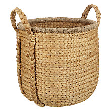 Buy John Lewis Country Plaited Water Hyacinth Basket Online at johnlewis.com