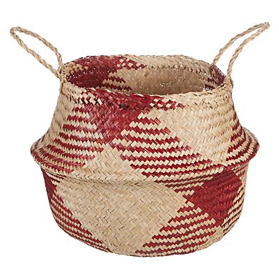 John Lewis Dakara Red Pattern Basket