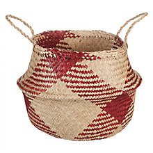 Buy John Lewis Dakara Red Pattern Basket Online at johnlewis.com