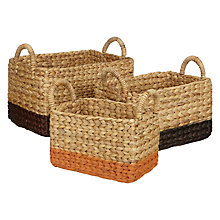Buy John Lewis Fusion Water Hyacinth Storage Baskets, Set of 3 Online at johnlewis.com