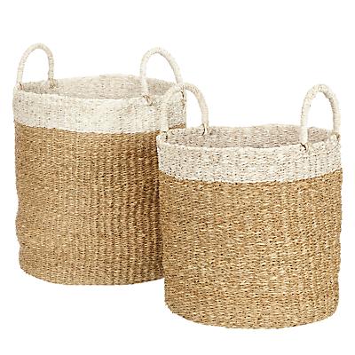 John Lewis Fusion Tip Basket, Set of 2, White