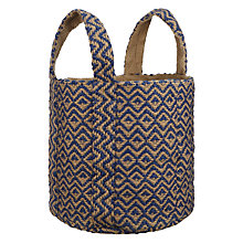 Buy John Lewis Patterned Tote, Lapis Online at johnlewis.com