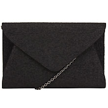 Buy John Lewis Fiona Textured Clutch Bag, Black Online at johnlewis.com