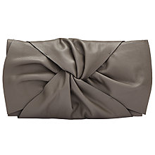 Buy Kin by John Lewis Effie Bow Leather Clutch Bag, Grey Online at johnlewis.com