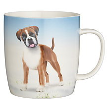 Buy John Lewis Buster the Boxer Christmas Mug, Blue Online at johnlewis.com