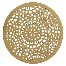 Buy John Lewis Kainoosh Lattice Coaster, Gold Online at johnlewis.com