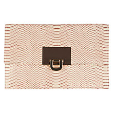 Buy Coast Filippa Snake Skin Clutch Bag, Blush Online at johnlewis.com