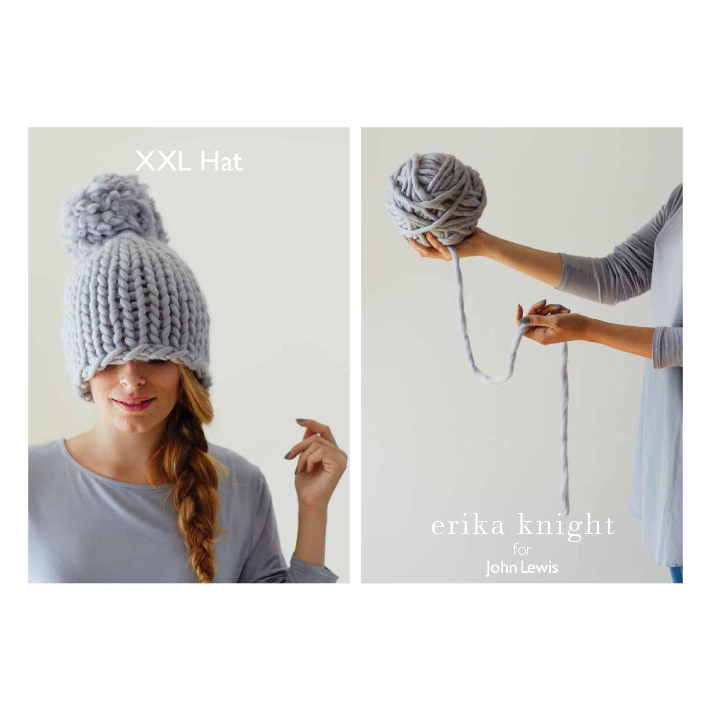 Erika Knight for John Lewis Erika Knight for John Lewis XXL Pom Pom Hat Knitting Pattern