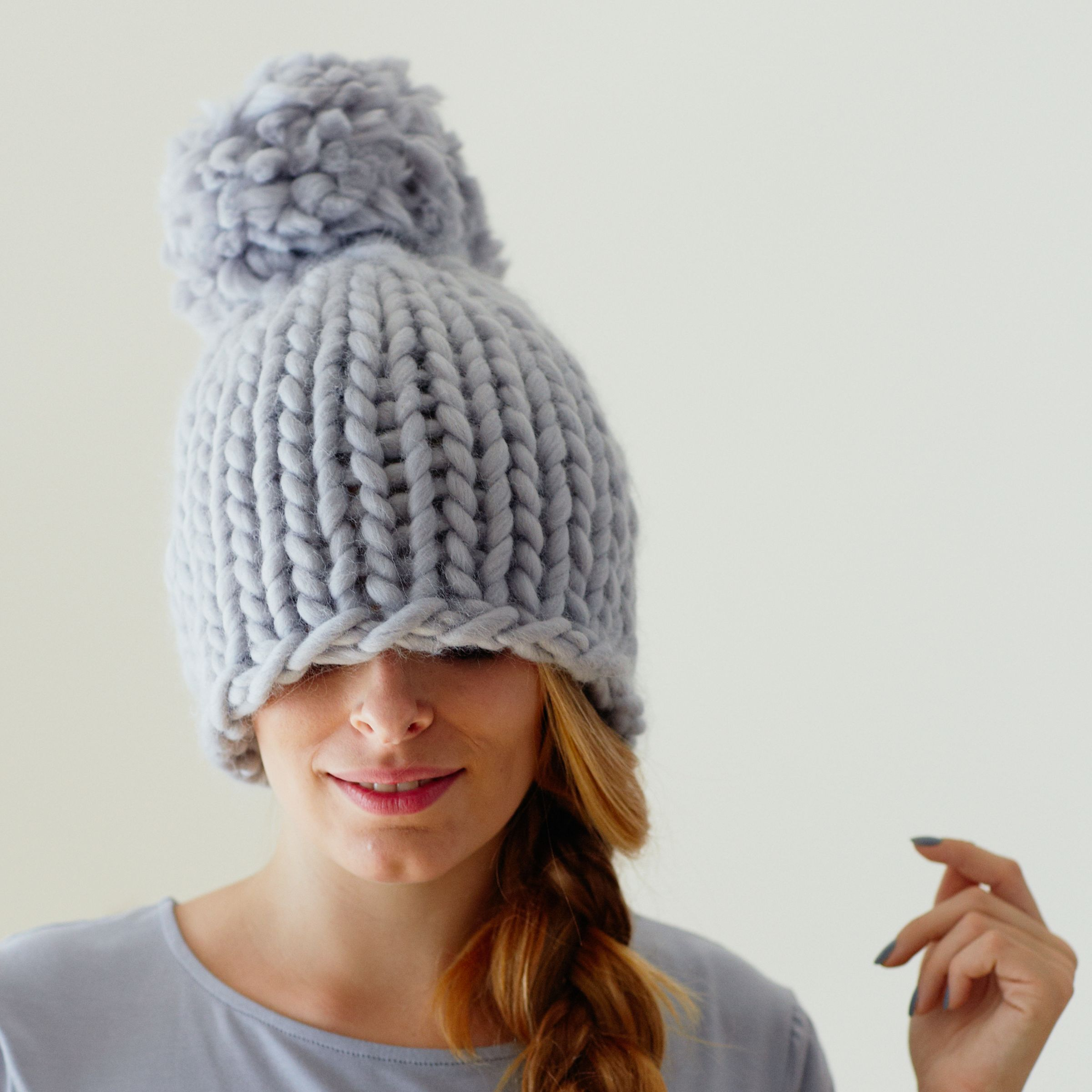Knitting Pattern John Lewis : Buy Erika Knight for John Lewis XXL Pom Pom Hat Knitting Pattern John Lewis