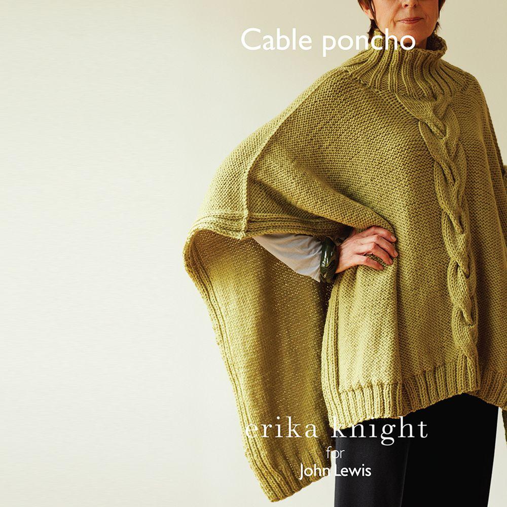 Erika Knight for John Lewis Erika Knight for John Lewis Women's Cable Poncho Knitting Pattern