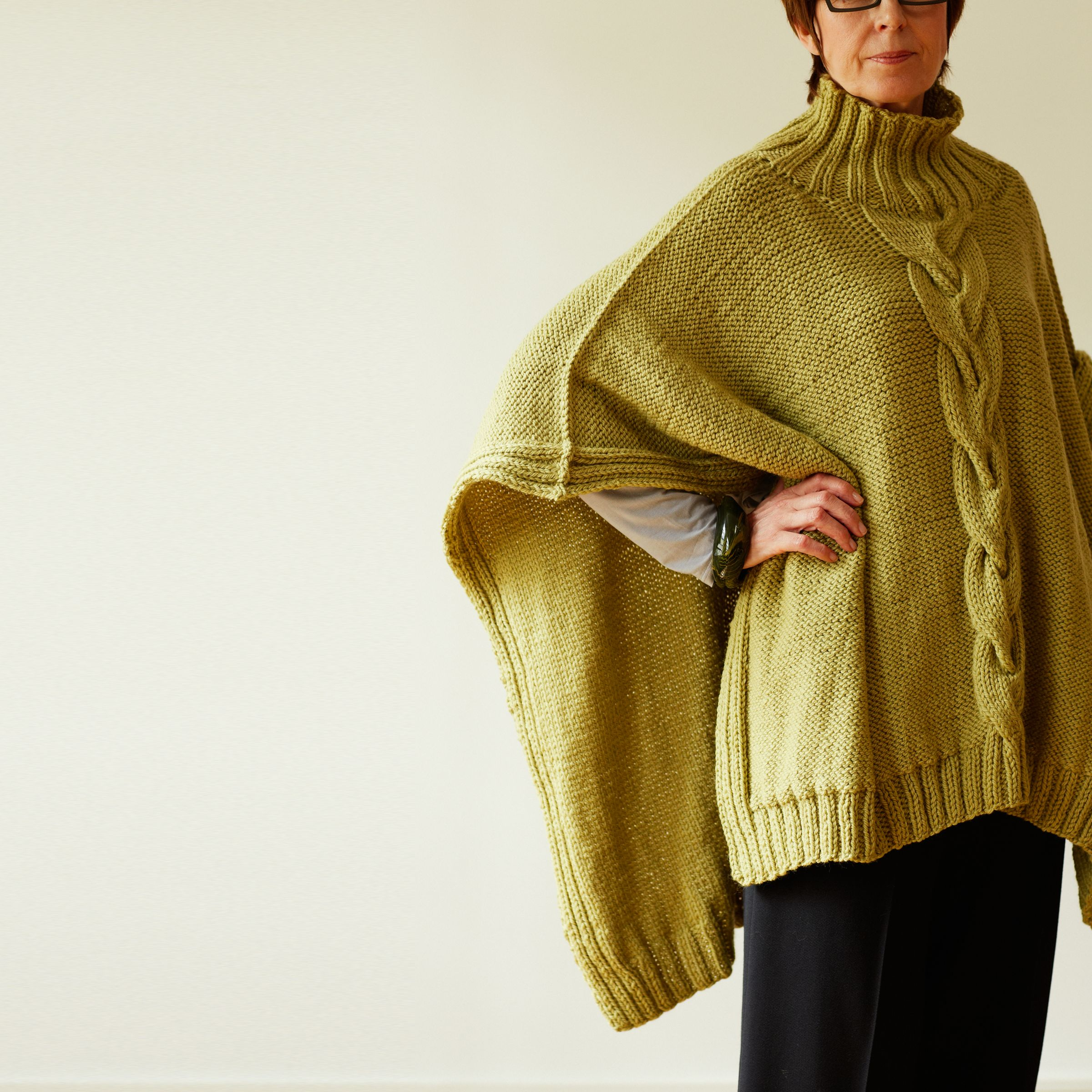 Buy Erika Knight for John Lewis Womens Cable Poncho Knitting Pattern J...