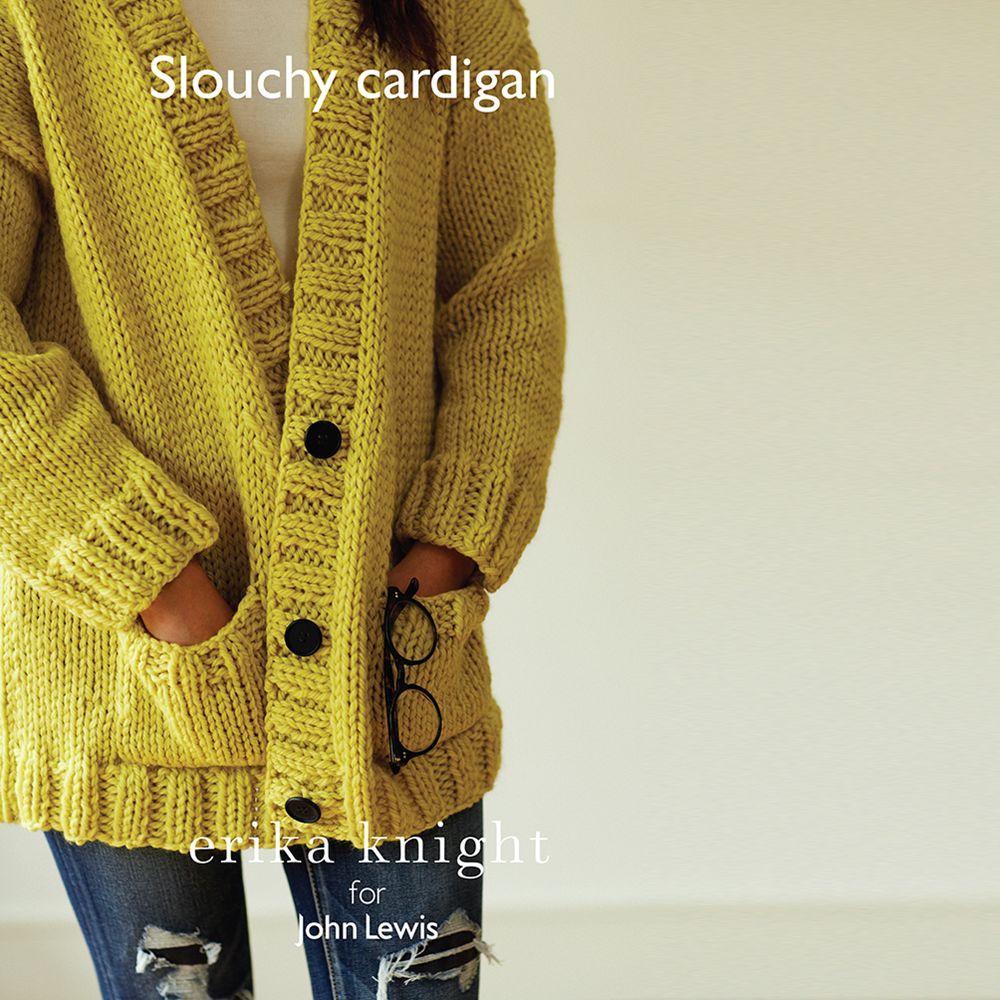 Erika Knight for John Lewis Erika Knight for John Lewis Women's Slouchy Cardigan Knitting Pattern