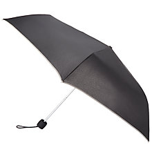 Buy John Lewis Fulton Victoria Piped Umbrella, Charcoal Online at johnlewis.com