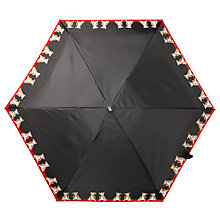 Buy Fulton Tiny 2 Boxer Dog Print Folding Umbrella, Black/Red Online at johnlewis.com