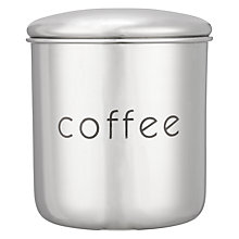 Buy John Lewis Stainless Steel Coffee Canister Online at johnlewis.com