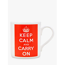 Buy McLaggan Smith 'Keep Calm And Carry On' Mug, Red Online at johnlewis.com