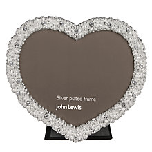 Buy John Lewis Aurora Heart Photo Frame, Silver Online at johnlewis.com