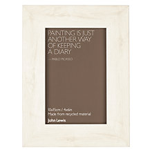 "Buy John Lewis Textured Wood Effect Photo Frame, 4 x 6"" Online at johnlewis.com"