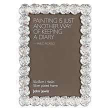 "Buy John Lewis Silver Rose Photo Frame, 4 x 6"" (10 x 15cm) Online at johnlewis.com"
