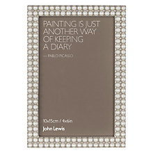 "Buy John Lewis Perla Photo Frame, 4 x 6"", White Online at johnlewis.com"