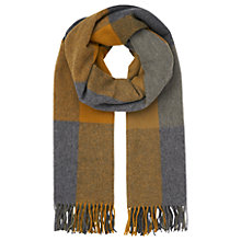 Buy Whistles Modern Check Blanket Scarf, Mustard Online at johnlewis.com