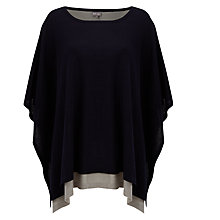 Buy Phase Eight Cascatta Poncho, Navy/Grey Marl Online at johnlewis.com