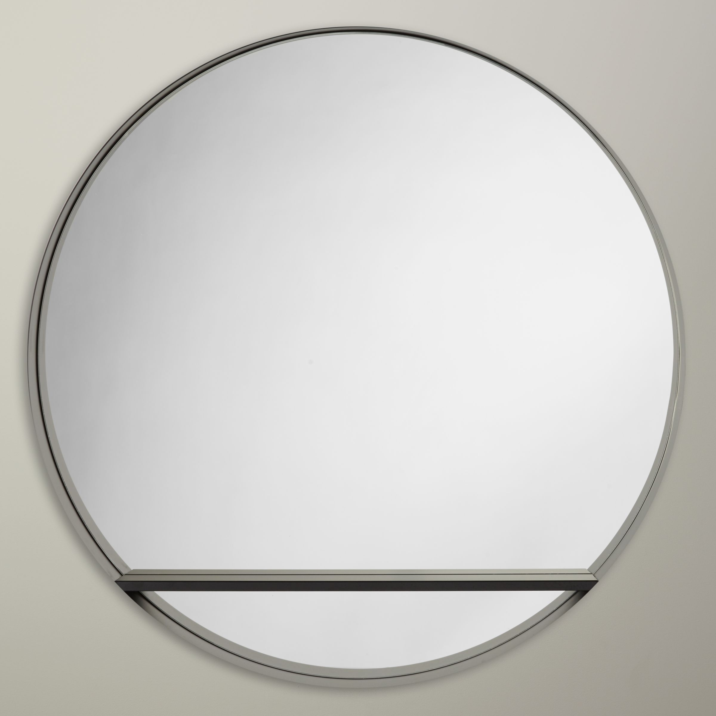 Design Project by John Lewis Design Project by John Lewis No.120 Circle Mirror With Shelf, Black