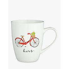 Buy John Lewis 'Hers' Bike Mug Online at johnlewis.com