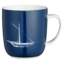 Buy John Lewis Coastal Sail Boat Mug Online at johnlewis.com