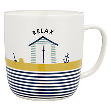 Buy John Lewis Coastal 'Relax' Beach Huts Mug Online at johnlewis.com