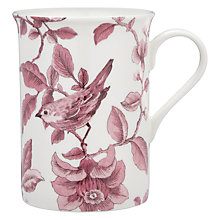 Buy John Lewis Country Archive Nightingale Mug, Red Online at johnlewis.com