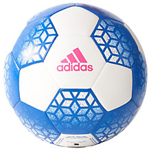 Buy Adidas Ace Glide Football, Size 5, White/Blue Online at johnlewis.com