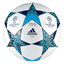 Buy Adidas UEFA 2017 Cardiff Final Football, Size 5, White Online at johnlewis.com