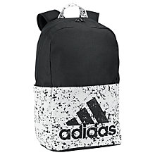 Buy Adidas Classic Logo Medium Sports Bag, Black/White Online at johnlewis.com
