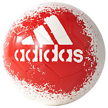 Buy Adidas X Glider II Football, Size 5, White/Red Online at johnlewis.com