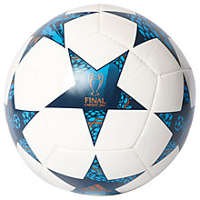 Buy Adidas UEFA 2017 Cardiff Final Mini Football, Size 1, White/Blue Online at johnlewis.com