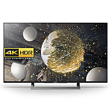 "Buy Sony Bravia 43XD8077/8099 LED HDR 4K Ultra HD Android TV, 43"" With Youview/Freeview HD & Silver Slate Design Online at johnlewis.com"