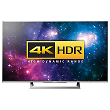 "Buy Sony Bravia 49XD8077/8099 LED HDR 4K Ultra HD Android TV, 49"" With Youview/Freeview HD, Playstation Now & Silver Slate Design Online at johnlewis.com"