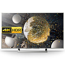 "Buy Sony Bravia 49XD8077/8099 LED HDR 4K Ultra HD Android TV, 49"" With Youview/Freeview HD & Silver Slate Design Online at johnlewis.com"