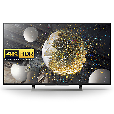 "Sony Bravia 49XD8077/8099 LED HDR 4K Ultra HD Android TV, 49"" With Youview/Freeview HD, Playstation Now & Silver Slate Design"
