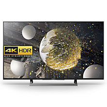 "Buy Sony Bravia 49XD8099 LED HDR 4K Ultra HD Android TV, 49"" With Youview/Freeview HD, Playstation Now +  HT-XT3 Soundbase Online at johnlewis.com"